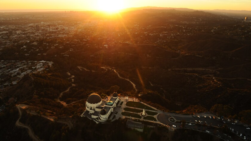 Griffith Observatory at sunset. It is L.A.'s inspiration point.