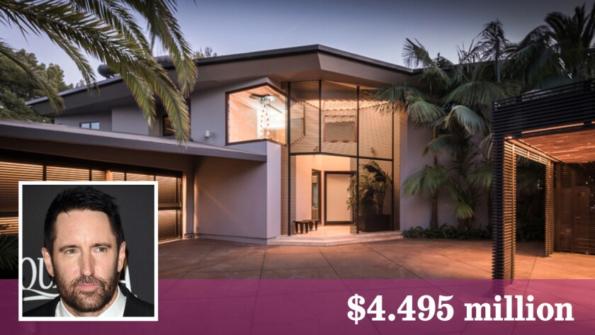 Trent Reznor of Nine Inch Nails has listed a house in the Beverly Crest area for sale at $4.495 million.