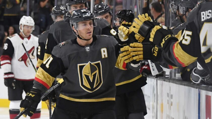 Vegas' Jonathan Marchessault is listed at 5-9 but scored 27 goals and had a career-high 75 points last season for the Golden Knights.