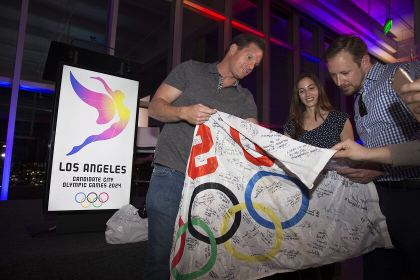 LA 2024, in documents for Olympic panel, pledges 'New Games for a New Era'
