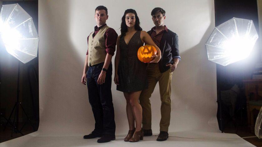 "Tom Zohar, Kay McNellen and Bryan Banville (from left) star in Backyard Renaissance's ""Tarrytown."""