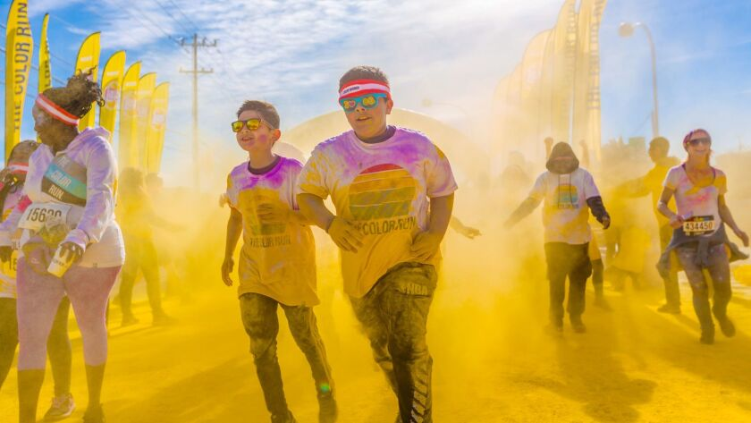 """The Color Run in Carson on Nov. 12 has the goal of """"bringing people together and make the world a ha"""