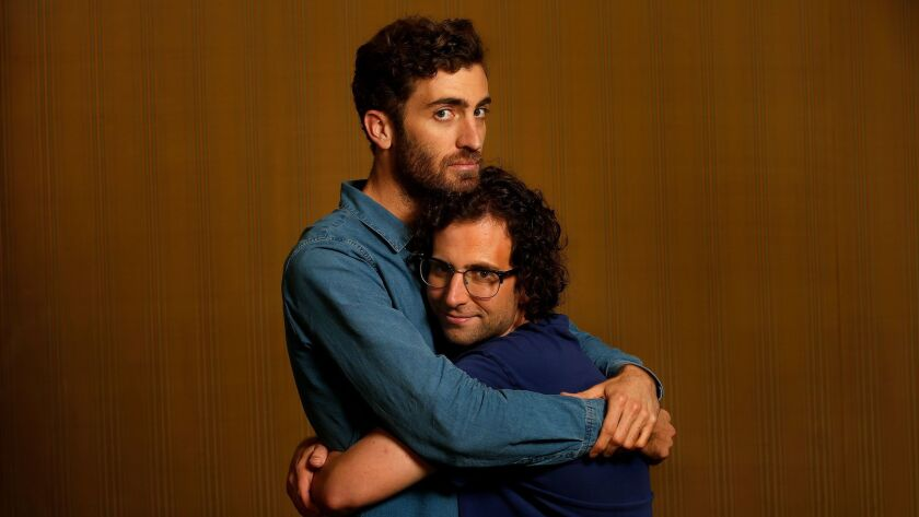 """Director Dave McCary, left, and star/co-writer Kyle Mooney of the film """"Brigsby Bear."""""""