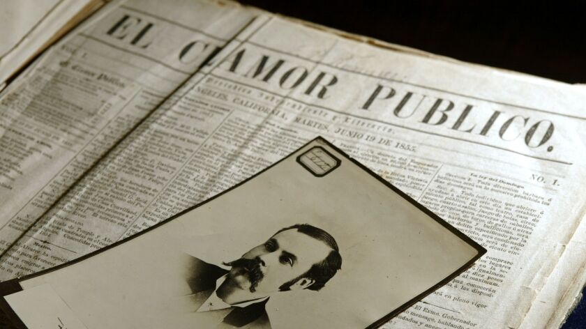 El Clamor Publico was California's first Spanish language newspaper, founded over 150 years ago.