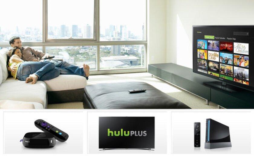 Hulu in the living room
