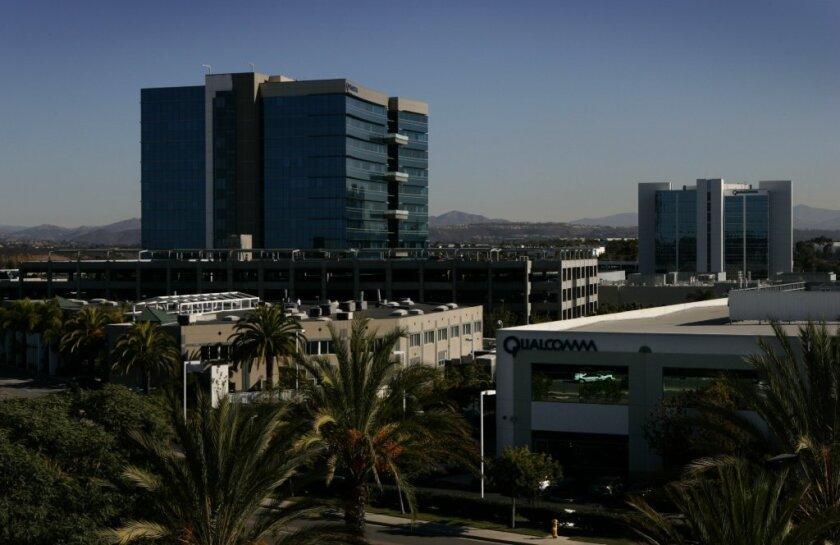 Qualcomm building in San Diego