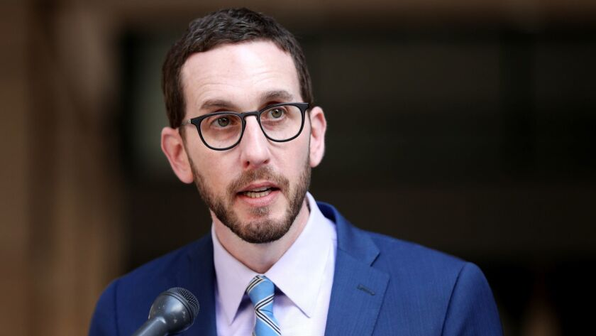 LOS ANGELES, CALIF. -- THURSDAY, SEPTEMBER 6, 2018: Sen. Scott Wiener (D-San Francisco), calls on Go