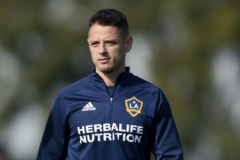 "Los Angeles Galaxy's Javier ""Chicharito"""