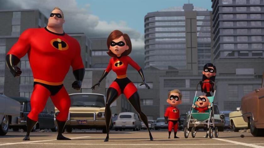 """Fotograma cedido por Pixar/Disney de una escena de la nueva película de los """"Incredibles 2"""", la nueva propuesta de Pixar/Disney. EFE/Pixar/Disney/SOLO USO EDITORIAL/NO VENTAS"""