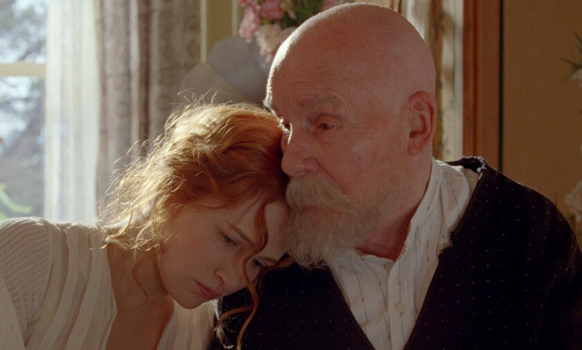 """Christa Theret as Andree Heuschling and Michel Bouquet as Pierre-Auguste Renoir in the movie """"Renoir."""""""