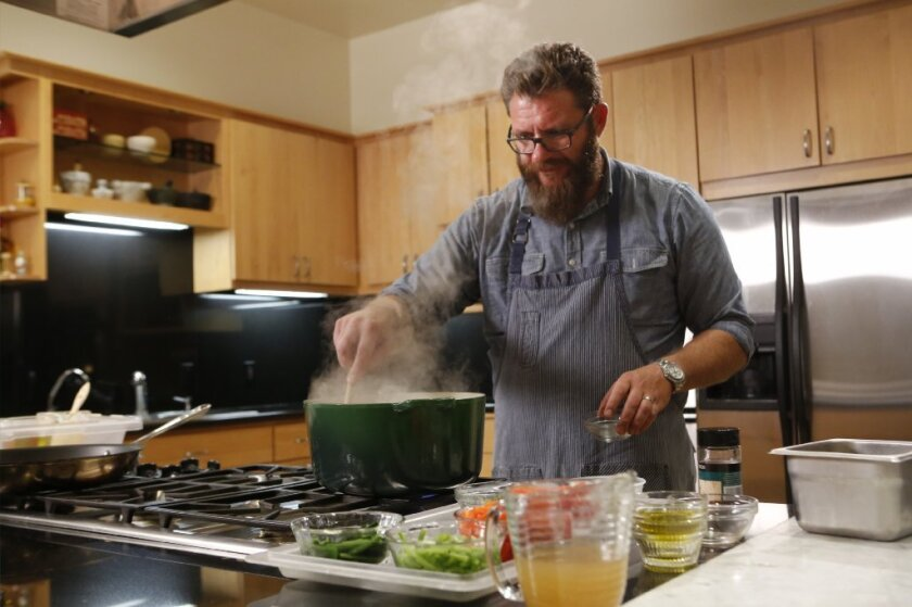Providence chef Michael Cimarusti in The Times Test Kitchen.