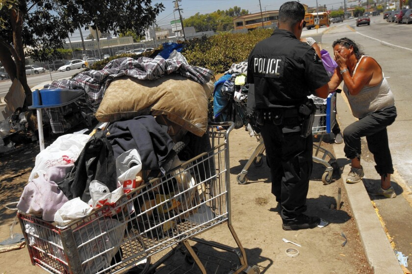 Move them out, then they return: L.A.'s seemingly futile homeless policy