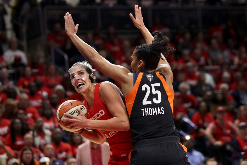 Washington's Elena Delle Donne is the reigning WNBA MVP.