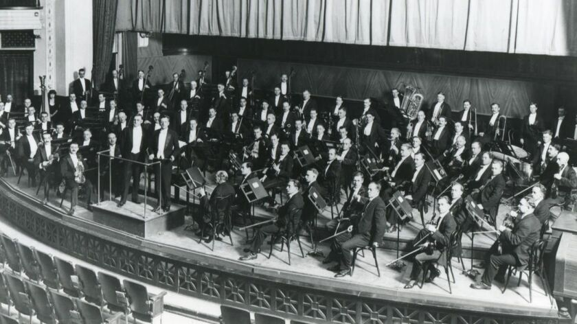 A photo of the newly formed Los Angeles Philharmonic, circa 1919. Credit: Los Angeles Philharmonic