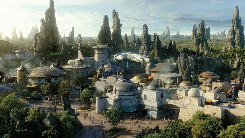 Get a sneak peek of the emerging landscape of Star Wars: Galaxy's Edge at Disney World