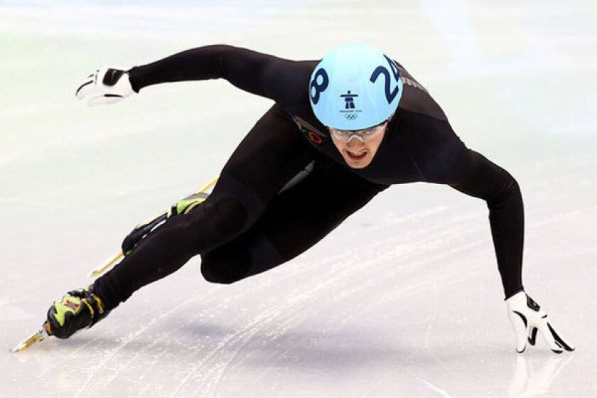 New Zealand speed skater Blake Skjellerup, shown competing in the 2010 Winter Olympics, says he plans to compete as an openly gay athlete at the 2014 Sochi Games.