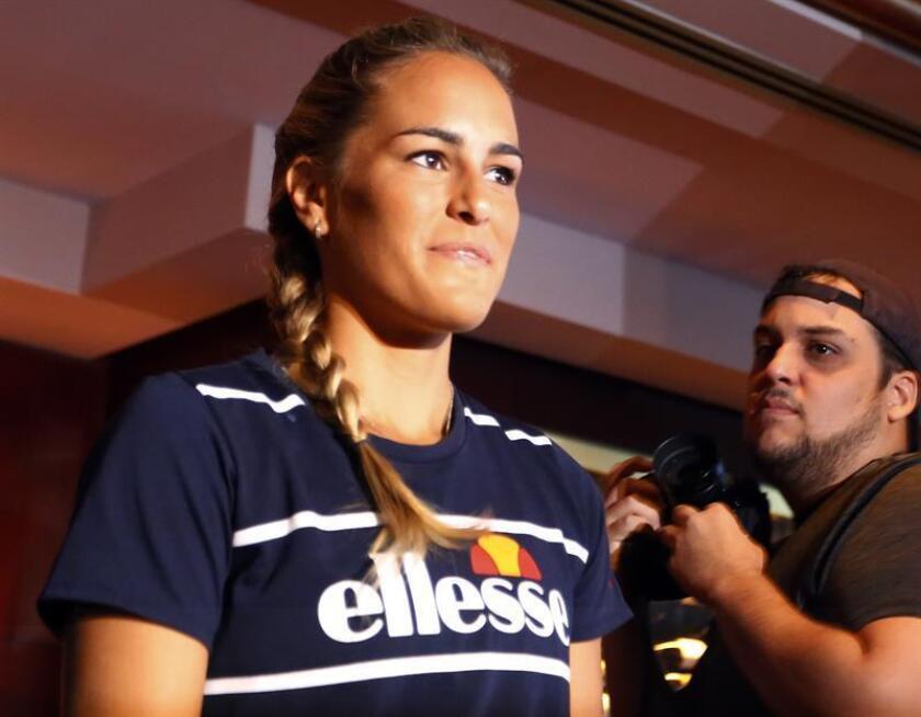 La tenista puertorriqueña y campeona olímpica de tenis femenino en Río 2016, Mónica Puig. EFE/Archivo
