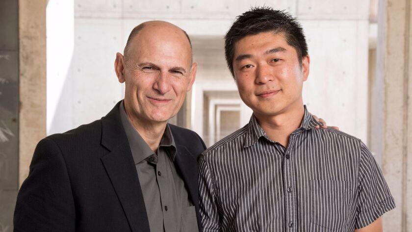 Salk Institute stem cell scientists Juan Carlos Izpisua Bemonte and Jun Wu