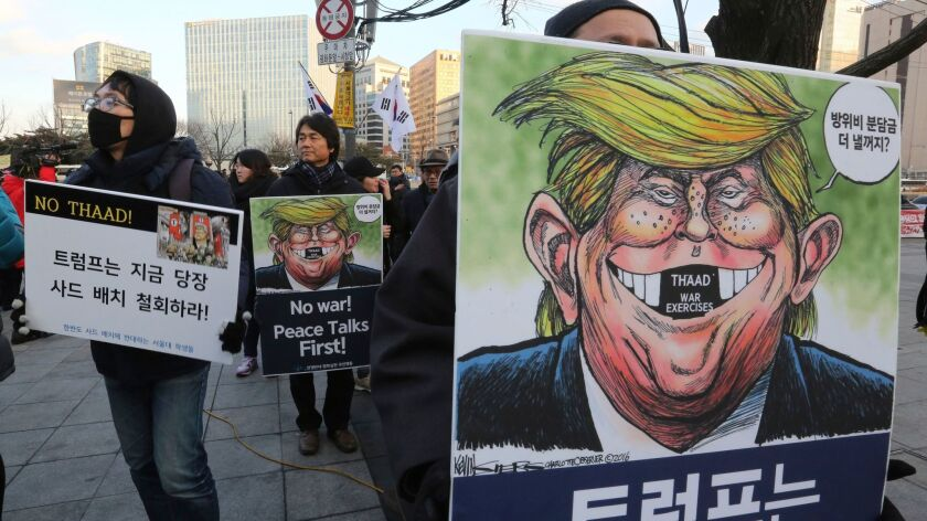 Anti-THAAD protest in Seoul