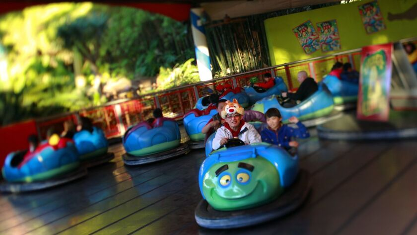Tuck and Roll's Drive 'Em Buggies, inside A Bug's Land, at Disney California Adventure Park in Anaheim, will be closing Sept. 4 to make way for a new superhero land.