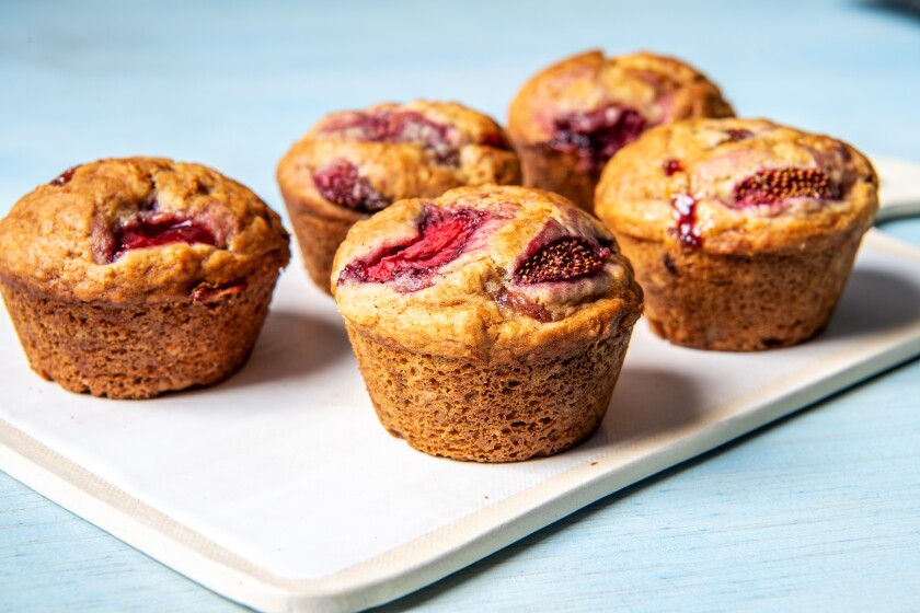 The tastiest strawberry muffin recipe also happens to be vegan