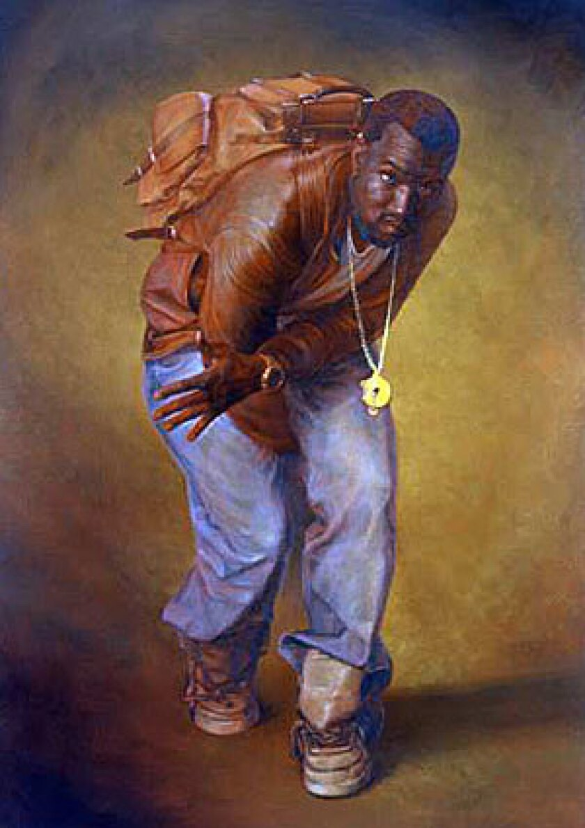 STATURE: Hip-hop artist Kanye West is among the subjects of painter Alex Melamid, previously renowned as a conceptual art rebel in Soviet Russia. His large paintings of the rappers are cast in amber light, recalling the work of Old Masters.