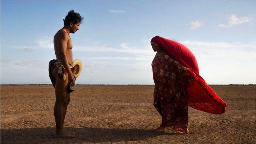 "José Acosta and Natalia Reyes in ""Birds of Passage."""