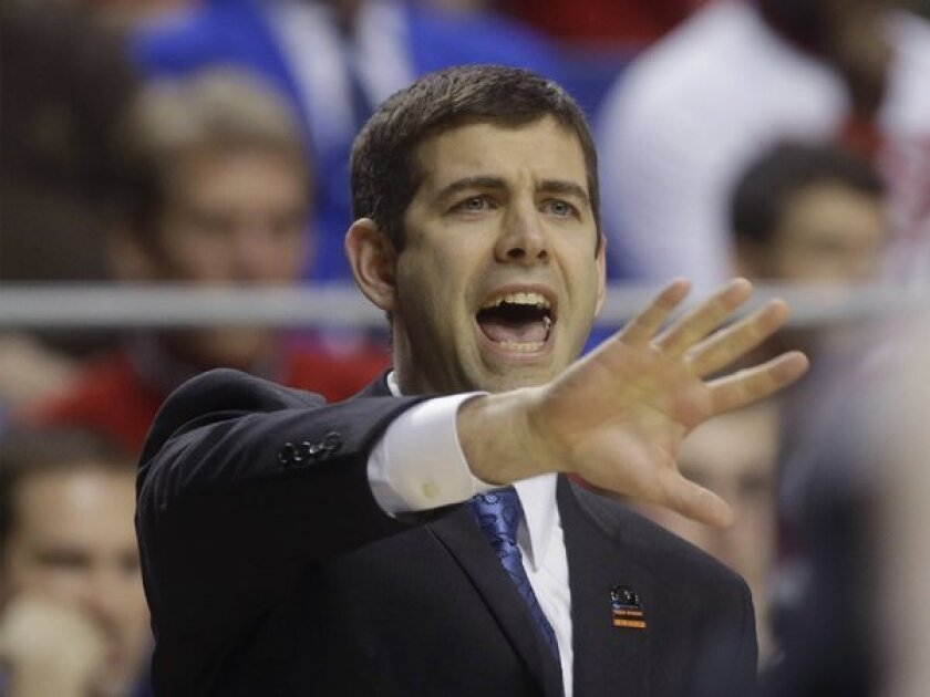 Butler Coach Brad Stevens reacts during a game against Marquette on Saturday.