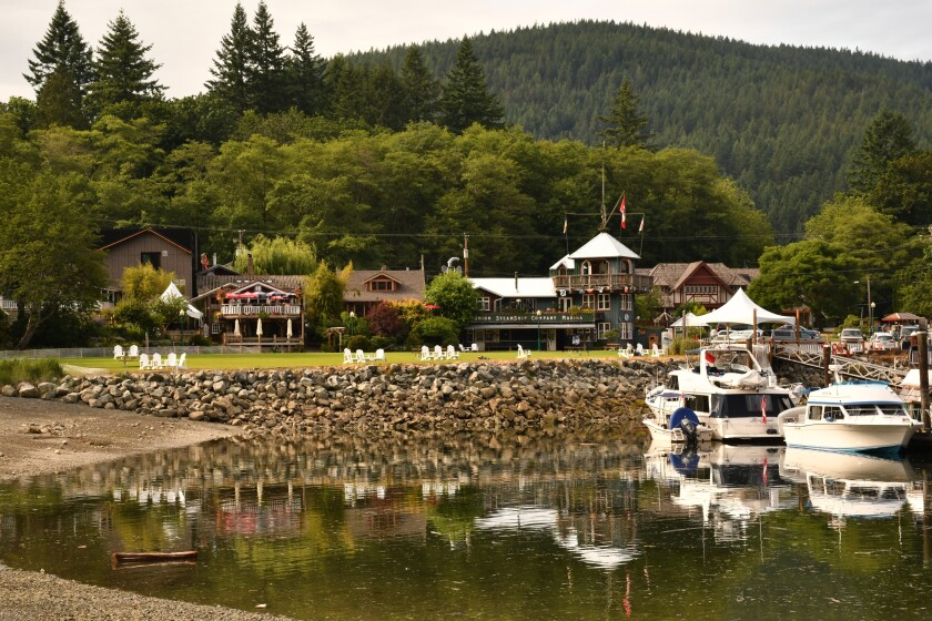 The Union Steamship Co. Marina Resort, on Bowen Island in British Columbia