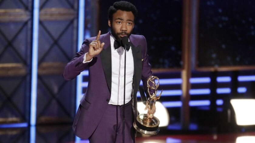 """Atlanta's"" Donald Glover at the 2017 Emmy Awards."