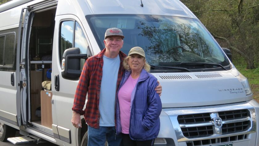 Jim Masur and Linda Powers of Colorado spent several nights camping at Dos Picos County Park in Ramona recently