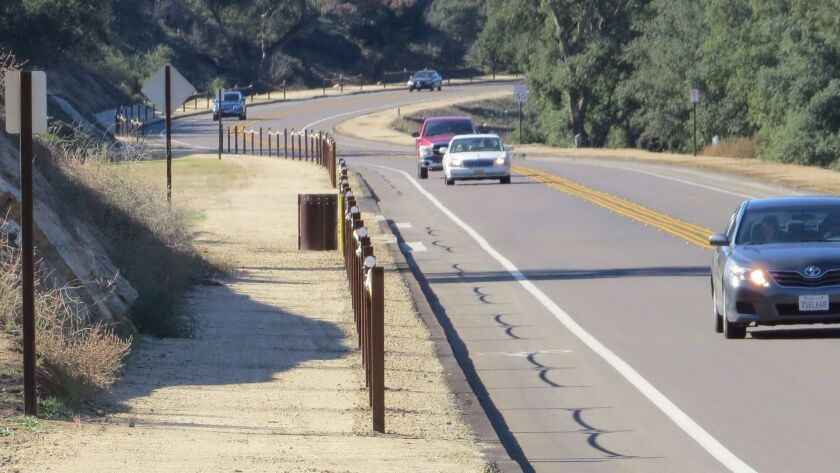 User Upload Caption: A 10-foot-wide multi-use trail runs along a 2.2-mile section of San Vicente Roa