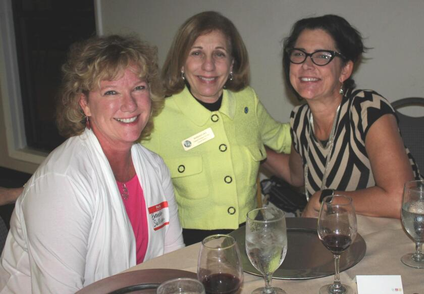 Brenda Sullivan, District 1 City Council member Barbara Bry and Marcella Bothwell