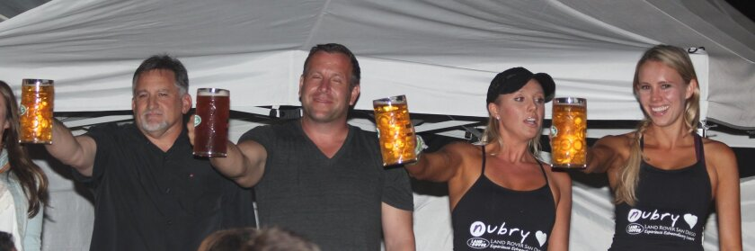 Contestants in the Oct. 11 BraveCort Beerfest and Stein Holding Contest on Girard Avenue.