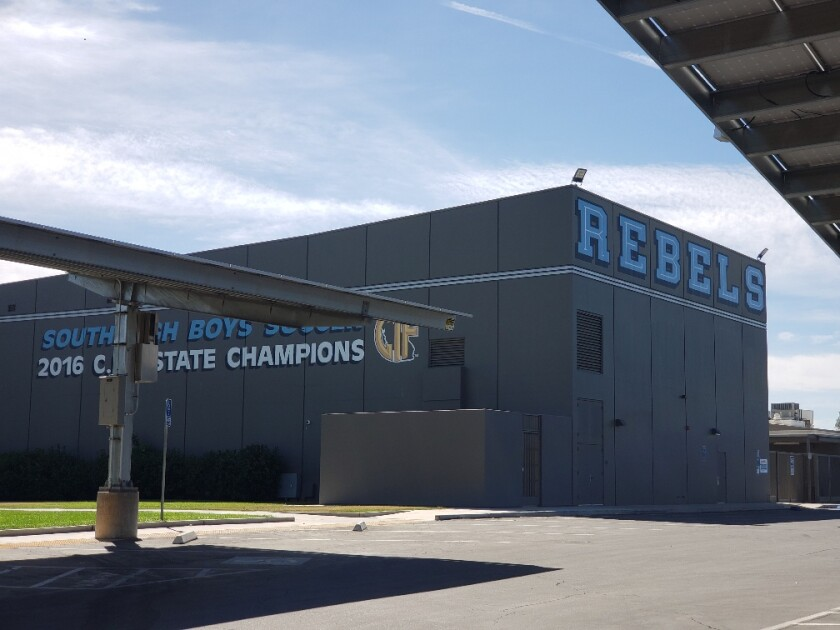 "The motto of Bakersfield's 1957 South High School is ""Home of the Rebels."""