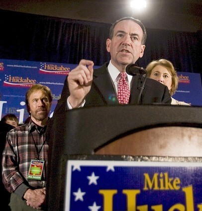 Republican presidential hopeful Mike Huckabee wins Iowa caucus
