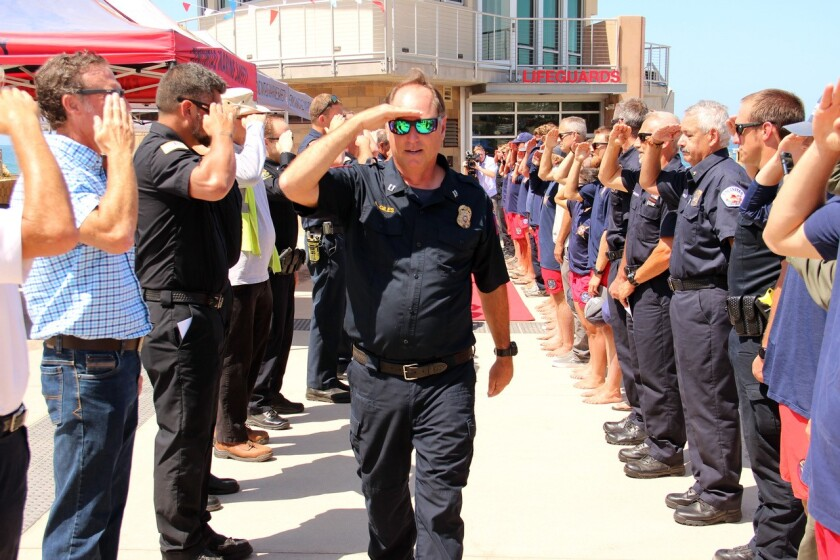 Larry Giles received a hero's sendoff for his retirement.