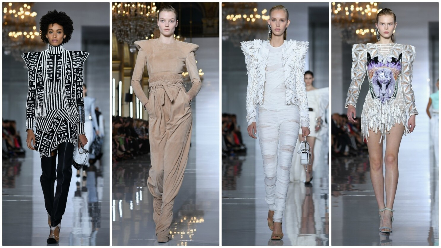 Paris Fashion Week Balmain S Spring And Summer 2019 Collection Has Egyptian Mummy Issues Los Angeles Times
