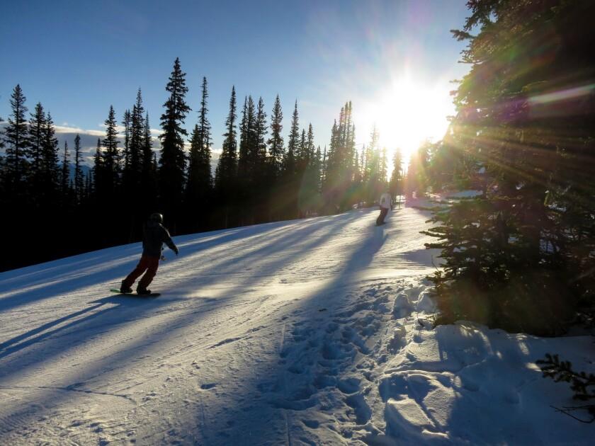 Skiing at Marmot Basin.