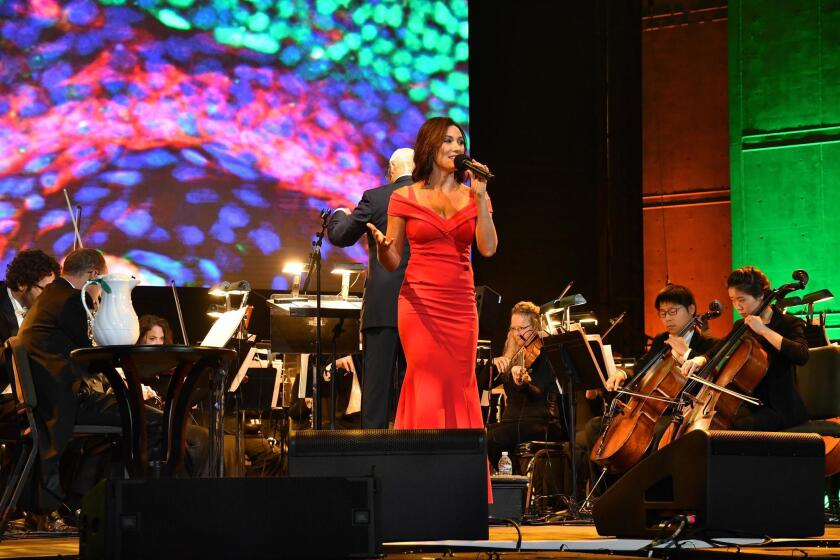 Laura Benanti in performance at the 2019 Symphony at Salk gala in La Jolla