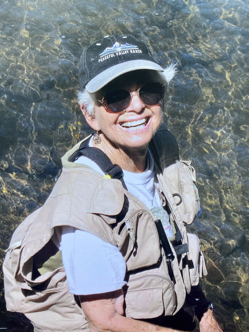 Alice Yee of La Jolla, shown in her fly fishing gear, has been a longtime advocate for women.