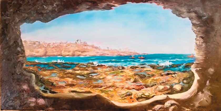 Leah Higgins' 'Reflective Cave' from a viewpoint most never see.