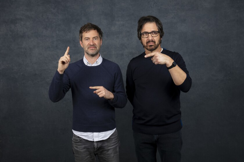 PARK CITY, UTAH -- JANUARY 26, 2019 -- Actor/writer Mark Duplass and actor Ray Romano, from the film