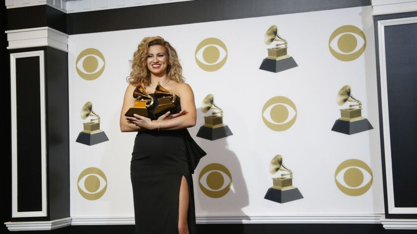 LOS ANGELES, CA - February 10, 2019 Tori Kelly backstage at the 61st GRAMMY Awards at STAPLES Center