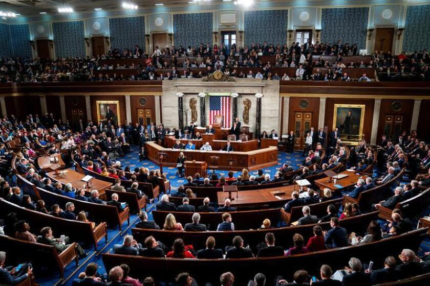 The US House of Representatives convenes for its first session of 2019 in Washington on Thursday, Jan 3. EFE-EPA/Jim Lo Scalzo