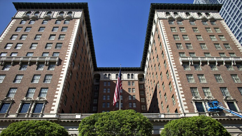 The Biltmore in downtown L.A. will serve as quarantine quarters for LAPD officers.