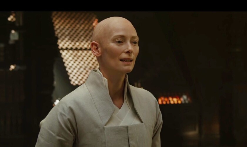 "Tilda Swinton stars as the Ancient One in ""€œDoctor Strange."""