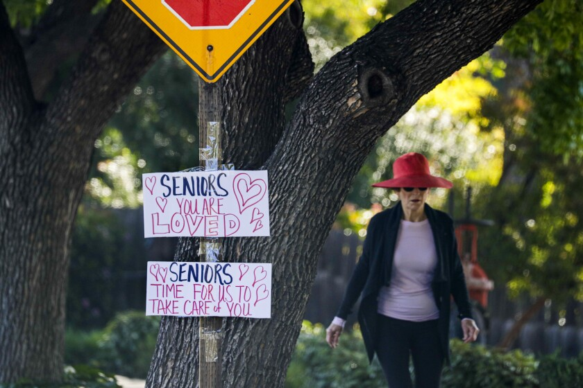 Claremont signs posted supporting seniors