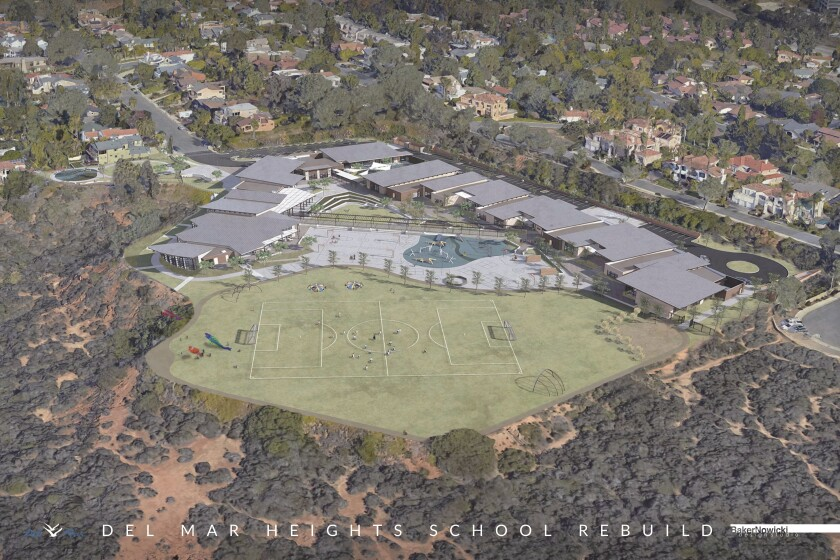 The rendering of Del Mar Heights School.