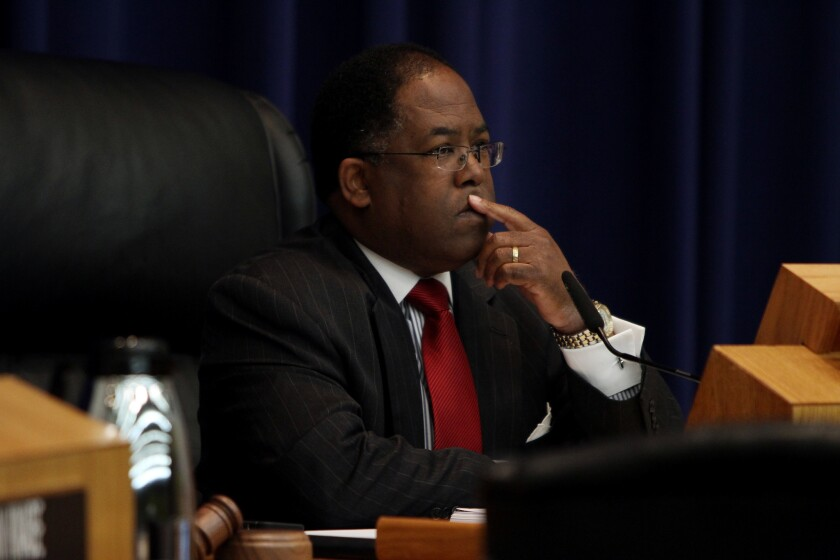 Supervisor Mark Ridley Thomas, shown in April, sponsored a measure urging federal lawmakers to update the Voting Rights Act after part of it was found unconstitutional.
